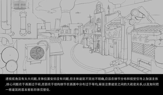卢伟民街道线稿图
